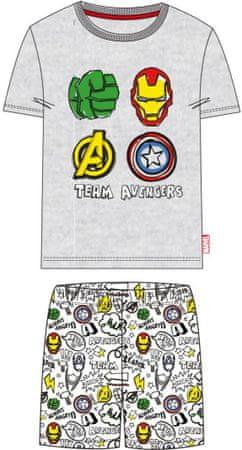 Disney piżama chłopięca Avengers 128 szara