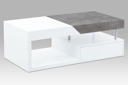 Dalenor Konferenční stolek Tibor, 120 cm, bílá/beton
