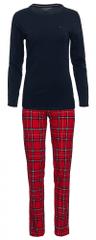 Tommy Hilfiger dámske pyžamo UW0UW01934 Jersey Set LS Print