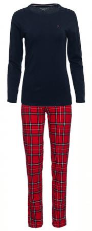 Tommy Hilfiger dámské pyžamo UW0UW01934 Jersey Set LS Print S vícebarevná