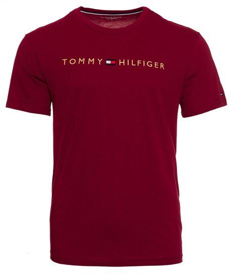 Tommy Hilfiger pánske tričko UM0UM01679 CN SS Tee Logo Gold S červená