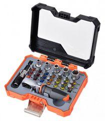 Tactix Sada bitů s mini ráčnou v plastovém boxu, 28 ks - TC555928P | Tactix