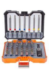 Tactix Sada bitů v plastovém boxu, 56 ks - TC419856P | Tactix