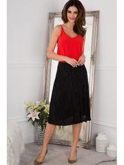 Amando Flisová čierna midi sukňa