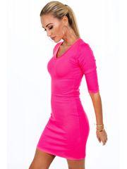 Amando Dámske bavlnené šaty 2093, neónovo ružové