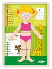 "Woody Puzzle ""Lidské tělo"" - Holka SK"