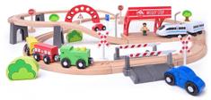 Woody Vláčkodráha s elektrickou mašinkou a viaduktem