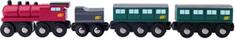 Woody Parní lokomotiva s uhlím a osobními vagony