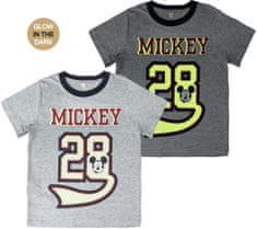 Disney Koszulka chłopięca - świecący w ciemności napis MICKEY MOUSE