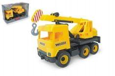 Wader Auto middle Truck jeřáb 40cm žlutý Wader