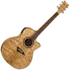 Dean Guitars  Exotica Quilt Ash A/E - Gloss Natural