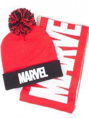 Čapica so šálom Marvel - Logo
