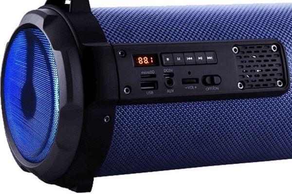 Bluetooth aux usb reproduktor vivax bs-101 aux vstup usb vstup slot na microSD karty mp3 podpora skvělý zvuk výkon 12 w rms nabíjecí baterie s výdrží 8 h
