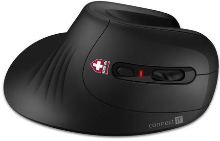 Connect IT wertykalna mysz ergonomiczna FOR HEALTH (CMO-2900-BK)