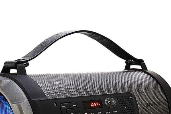 Bluetooth aux usb zvočnik vivax bs-151 aux vhod usb vhod microSD reža za kartico mp3 podpora izjemno zvočno moč 12 w rms polnilna baterija z 8 urami življenjske dobe
