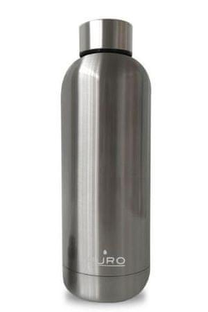 Puro steklenica dvojno dno n.jeklo 500 ml, mat srebrna