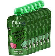 Ella's Kitchen Brokolica, hruška a hrášok 7 x 120g