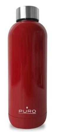 Puro Hot & Cold termo steklenica 500 ml, sijaj, rdeča