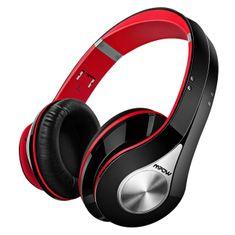 MPOW 059 - bezdrátová sluchátka, červeno-černá