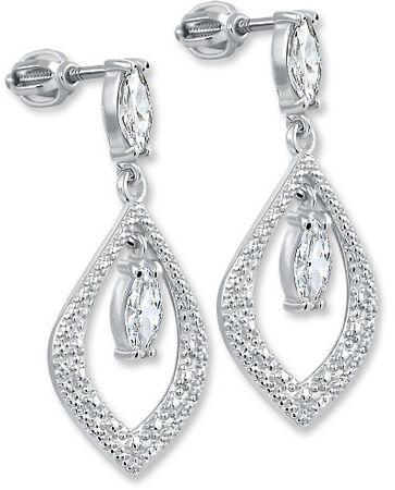 Brilio Silver Srebrni uhani s kristali 436 001 00412 04 srebro 925/1000