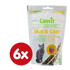 Canvit przysmaki dla kota Snack CAT Skin & Coat 6 x 100g