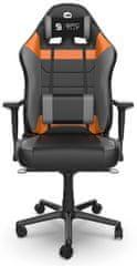 SilentiumPC fotel dla gracza Gear SR800 OR, czarny/pomarańczowy (SPG032)
