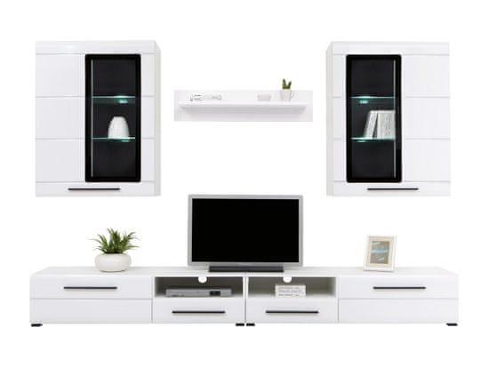 Black Red White Obývacia Stena: Vitto - Biela