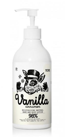 Yope Hydratačné telové mlieko Vanilka a škorica BIO 300 ml