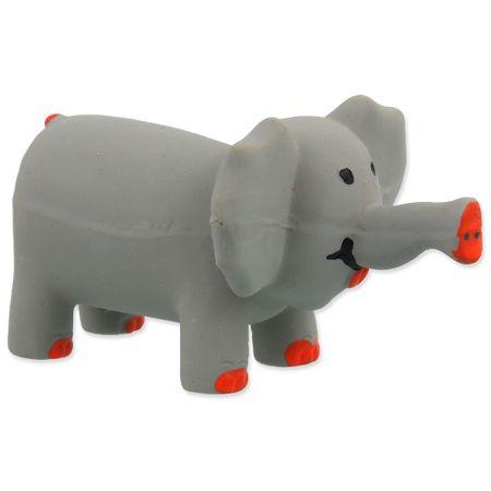 Dog Fantasy igrača za pse Latex Slon, siv, zvok, 10 cm