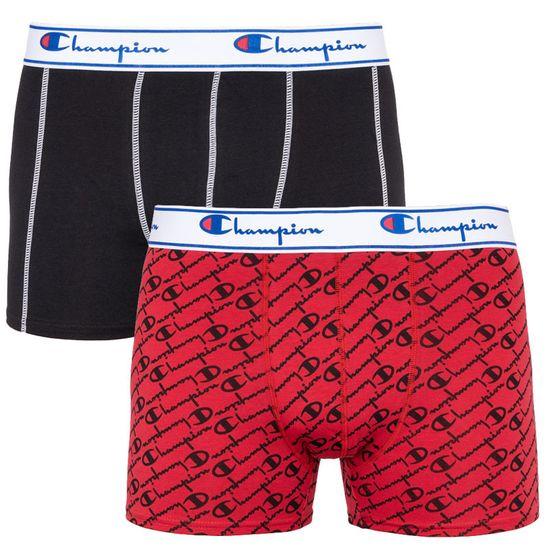 Champion 2PACK pánské boxerky red black (Y081W) - velikost XXL