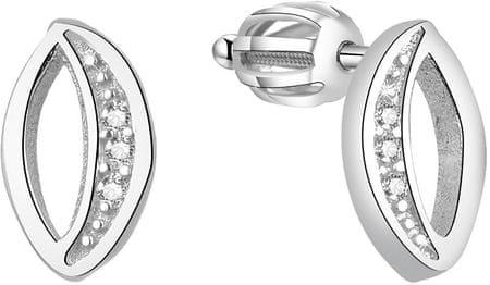 Beneto Srebrni svetleči uhani AGUP1436S srebro 925/1000
