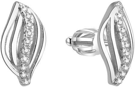 Beneto Srebrni svetleči uhani AGUP1438S srebro 925/1000