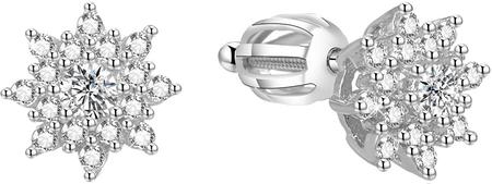 Beneto Srebrni svetleči uhani za AGUP1442S srebro 925/1000