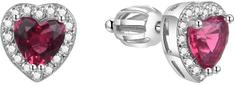 Beneto Błyszczące kształty serca Kolczyki AGUP1488S srebro 925/1000