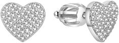 Beneto Błyszczące kształty serca Kolczyki AGUP1491S srebro 925/1000