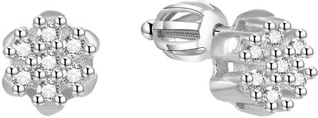 Beneto Srebrni svetleči uhani AGUP1464S srebro 925/1000
