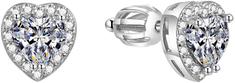 Beneto Błyszczące kształty serca Kolczyki AGUP1486S srebro 925/1000