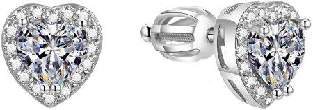 Beneto Svetleči uhani za srce AGUP1486S srebro 925/1000