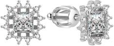 Beneto Csillogó ezüst fülbevalók AGUP1517S ezüst 925/1000