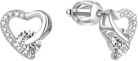 Beneto Ezüst szív fülbevalók AGUP1538S ezüst 925/1000