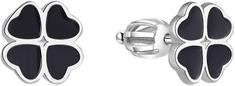 Beneto Stříbrné náušnice čtyřlístky AGUP1595S stříbro 925/1000
