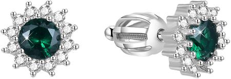 Beneto SrebrneKolczyki z cyrkoniami AGUP1609S srebro 925/1000