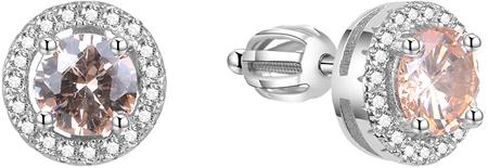 Beneto Ezüst fülbevalók cirkóniával AGUP1612S ezüst 925/1000