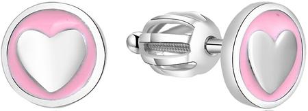 Beneto Ezüst szív fülbevalók AGUP1628S ezüst 925/1000