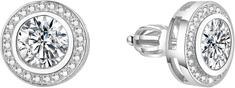 Beneto Ezüst fülbevalók cirkonokkal TAGUP1588S ezüst 925/1000