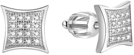 Beneto SrebrneKolczyki z cyrkoniami AGUP1630S srebro 925/1000