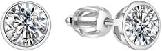 Beneto Stříbrné náušnice s třpytivým zirkonem AGUP1714S stříbro 925/1000