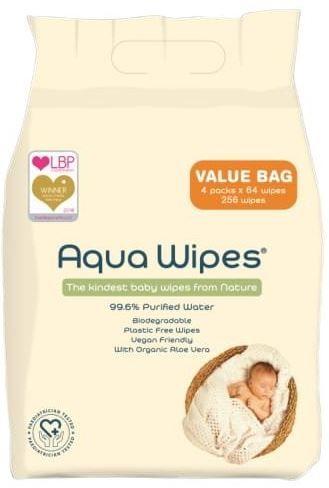 Aqua Wipes Vlhčené obrúsky - 4 x 64 ks