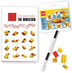 LEGO Stationery Classic Kačice - zápisník s perom a stavebnicou