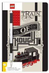 LEGO Stationery Zápisník A5 s černým perem - Train of Thought